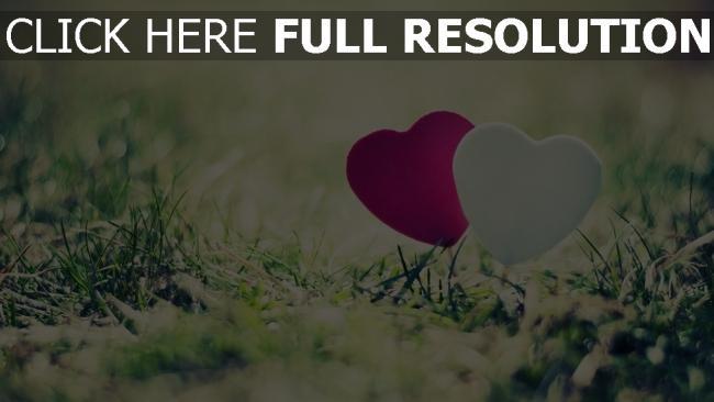 Hd Hintergrundbilder Valentinstag Herz Herzen Gras Desktop Hintergrund