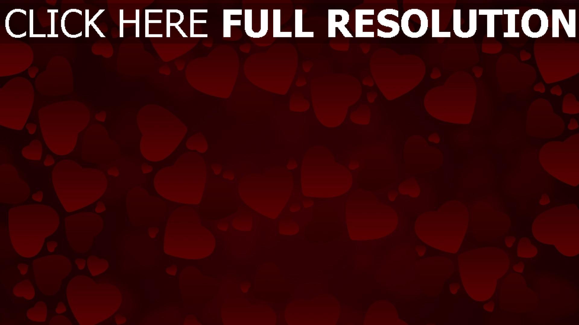 hd hintergrundbilder valentinstag herzen rot valentine 1920x1080