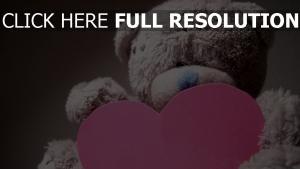 valentinstag herz teddybär romantik
