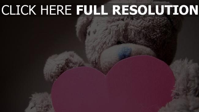 hd hintergrundbilder valentinstag herz teddybär romantik
