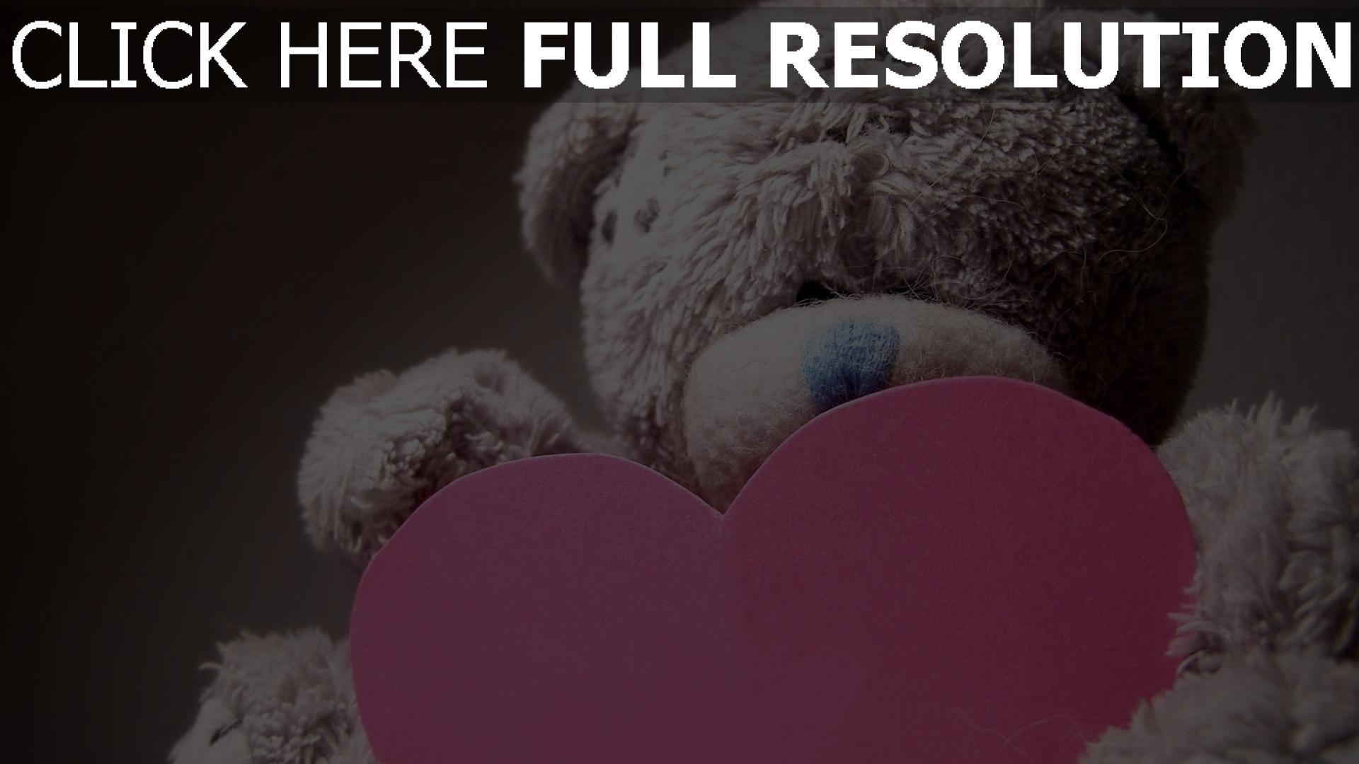 HD Hintergrundbilder valentinstag herz teddybär romantik, desktop ...