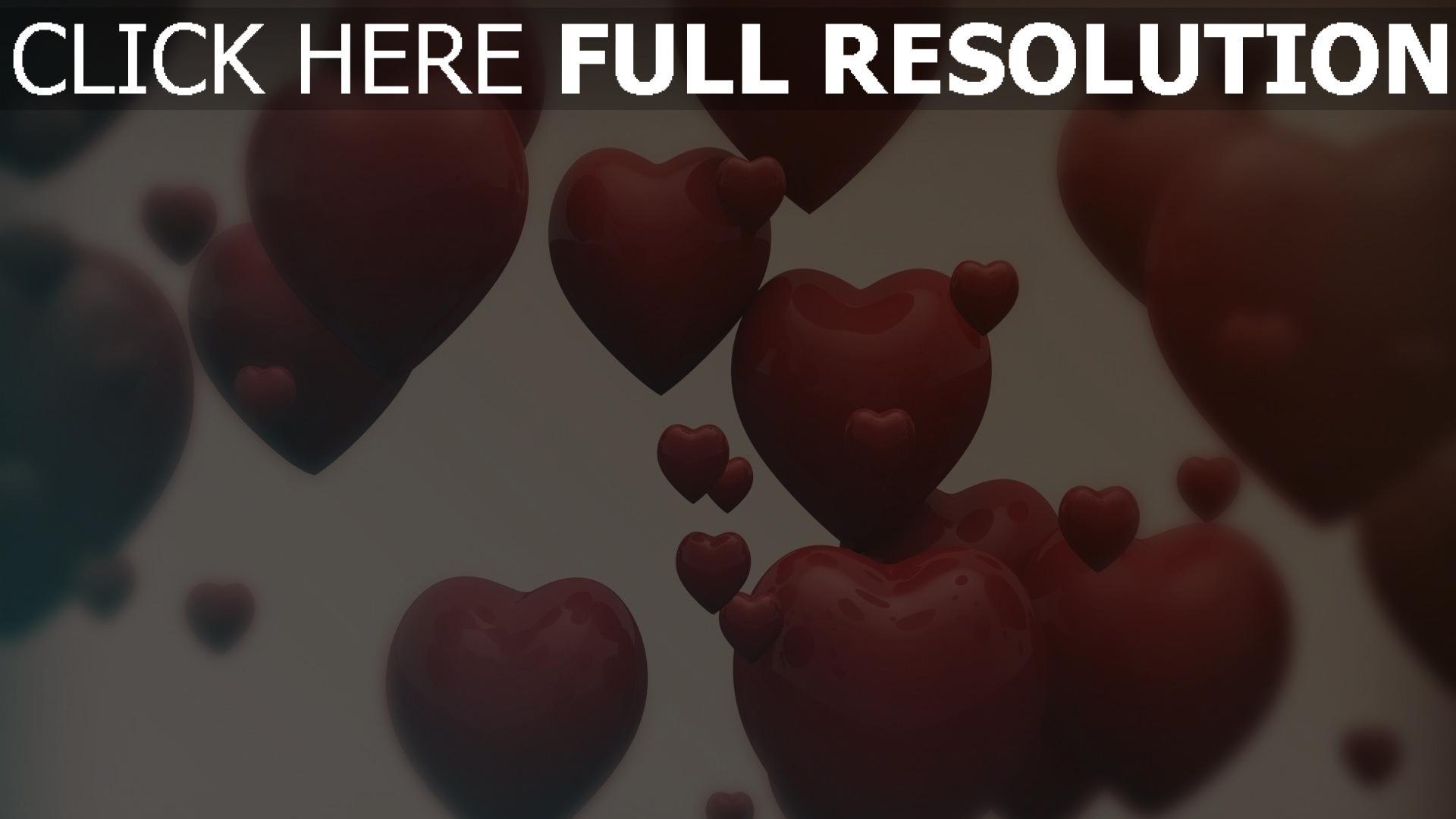 hd hintergrundbilder valentinstag herzen formen romantik 1920x1080
