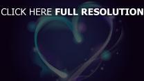valentinstag herz forme symbol blau