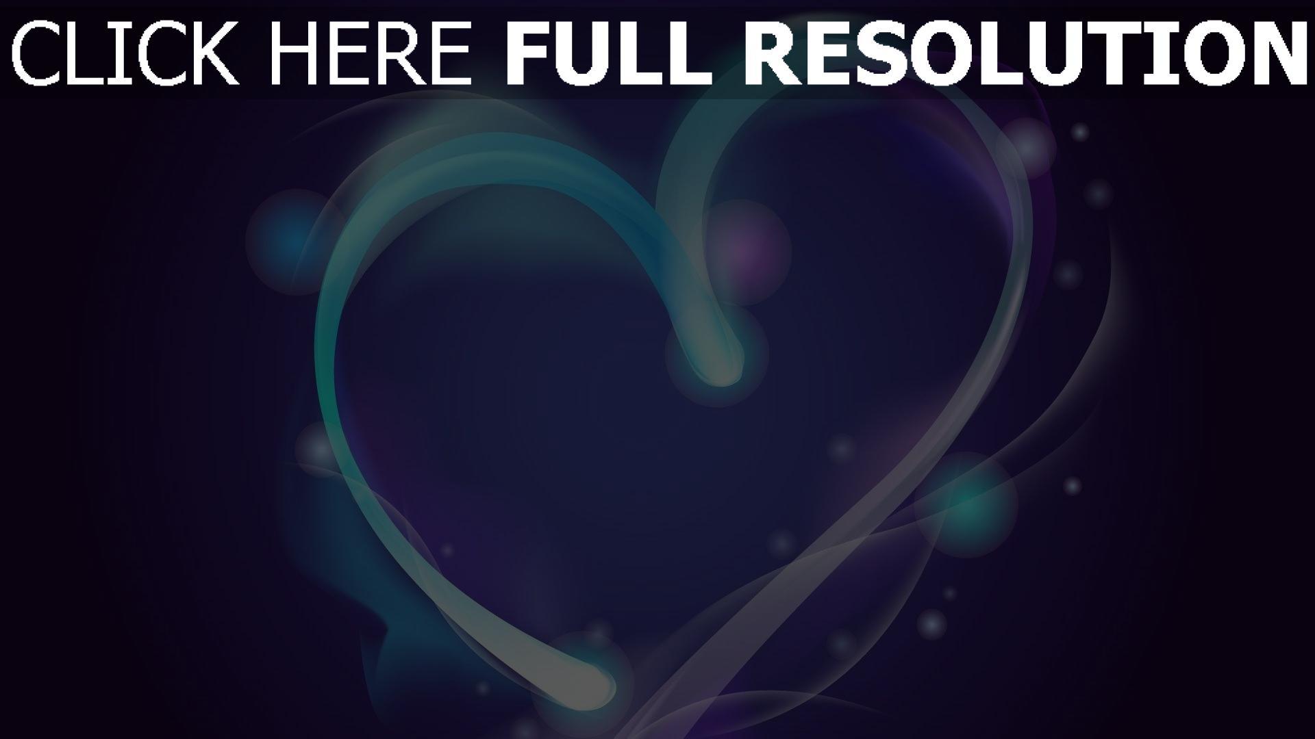 hd hintergrundbilder valentinstag herz forme symbol blau 1920x1080