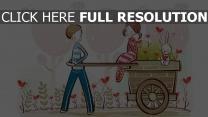paar romantisch niedliches zeichnen