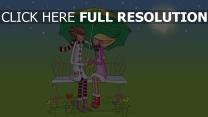 paar romantisch valentinstag sitzbank regenschirm