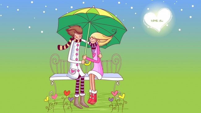 hd hintergrundbilder paar romantisch valentinstag sitzbank regenschirm