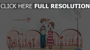 paar romantisch valentinstag bouquet brief glückwunsch
