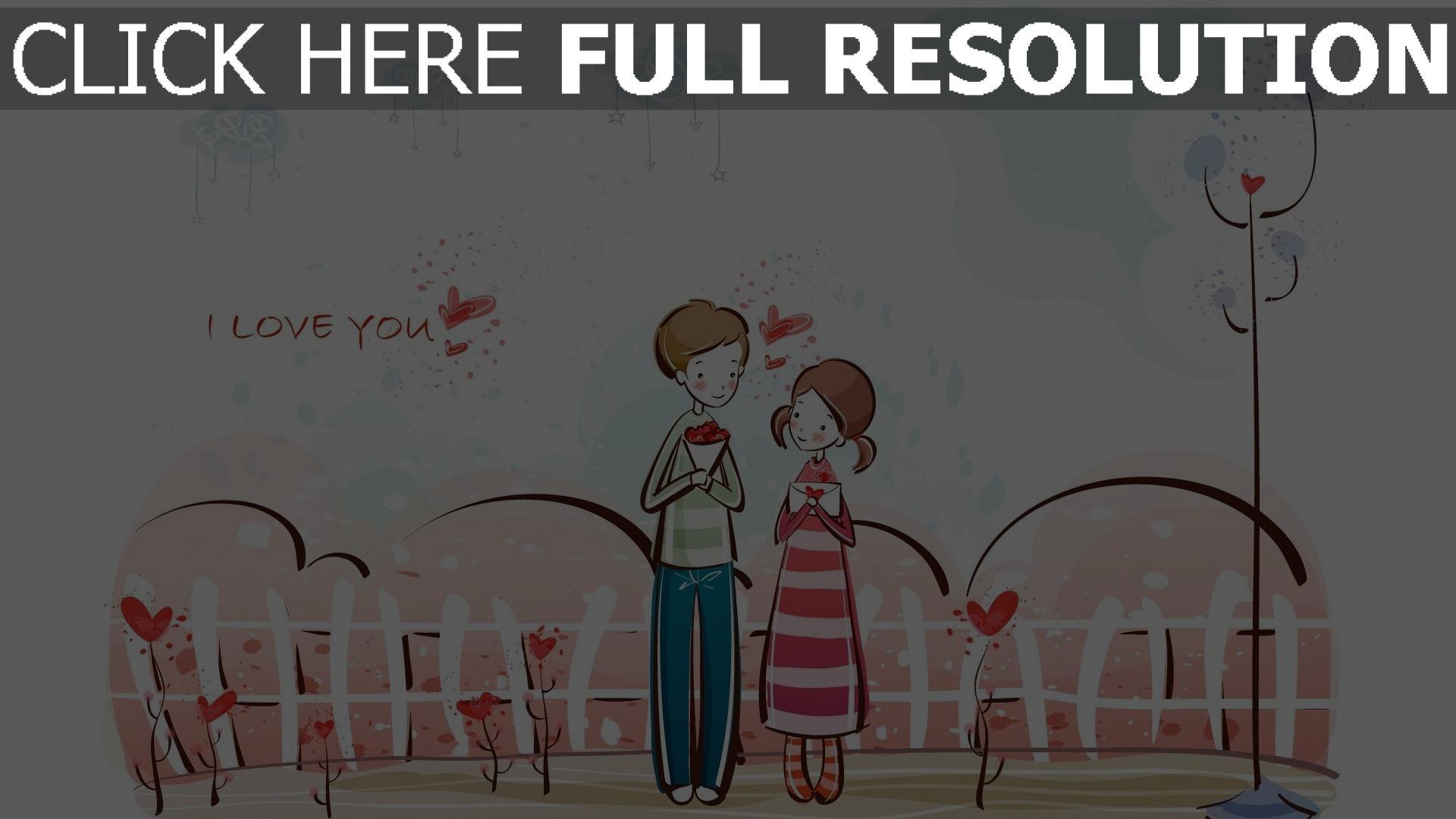 Hd Hintergrundbilder Paar Romantisch Valentinstag Bouquet Brief Glückwunsch  1920x1080