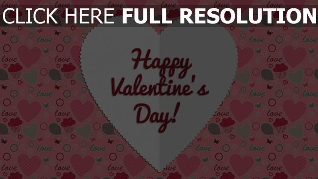Hd Hintergrundbilder Valentinstag Herzen Formen Rosa Glückwünsche  Hintergrund