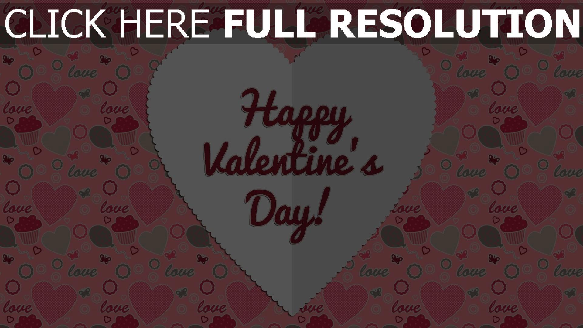 Schön Hd Hintergrundbilder Valentinstag Herzen Formen Rosa Glückwünsche  Hintergrund 1920x1080
