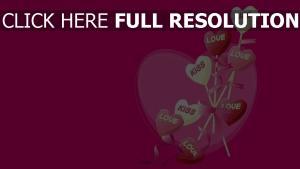 valentinstag herzen formen rosa glückwünsche