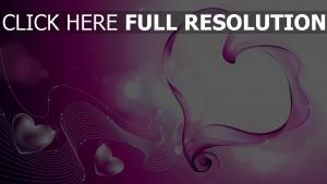 valentinstag herz formen linien rosa