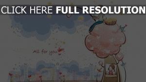 paar romantisch valentinstag baum sterne