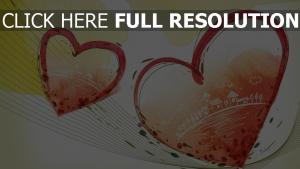 valentinstag herz romantisch rot muster zeichnung