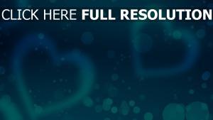 herzen romantik glitter blau