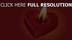 herz romantik kerze feuer rot