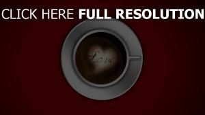 herz schaum kaffee tasse romantik