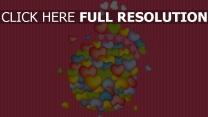 herz rosa bunt streifen romantik