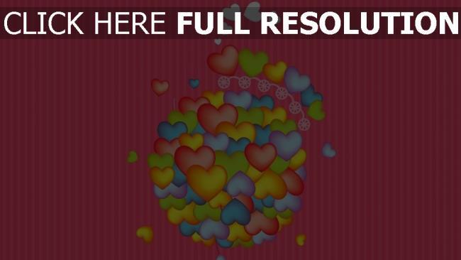 hd hintergrundbilder herz rosa bunt streifen romantik