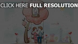 paar romantisch valentinstag baum schwingen