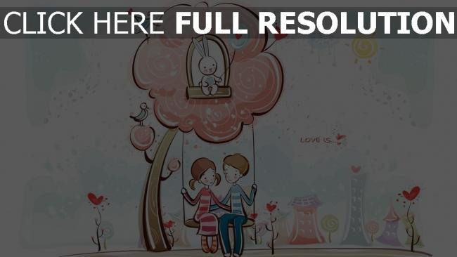 hd hintergrundbilder paar romantisch valentinstag baum schwingen