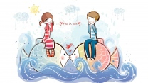 paar romantisch valentinstag fisch