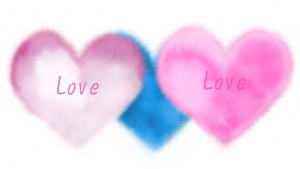 valentinstag romantik herz flaumig rosa blau