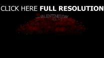 valentinstag grüße wünsche herzen rot schwarz