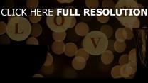valentinstag romantik tasse bokeh