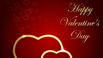 valentinstag grüße wünsche herzen rot gold