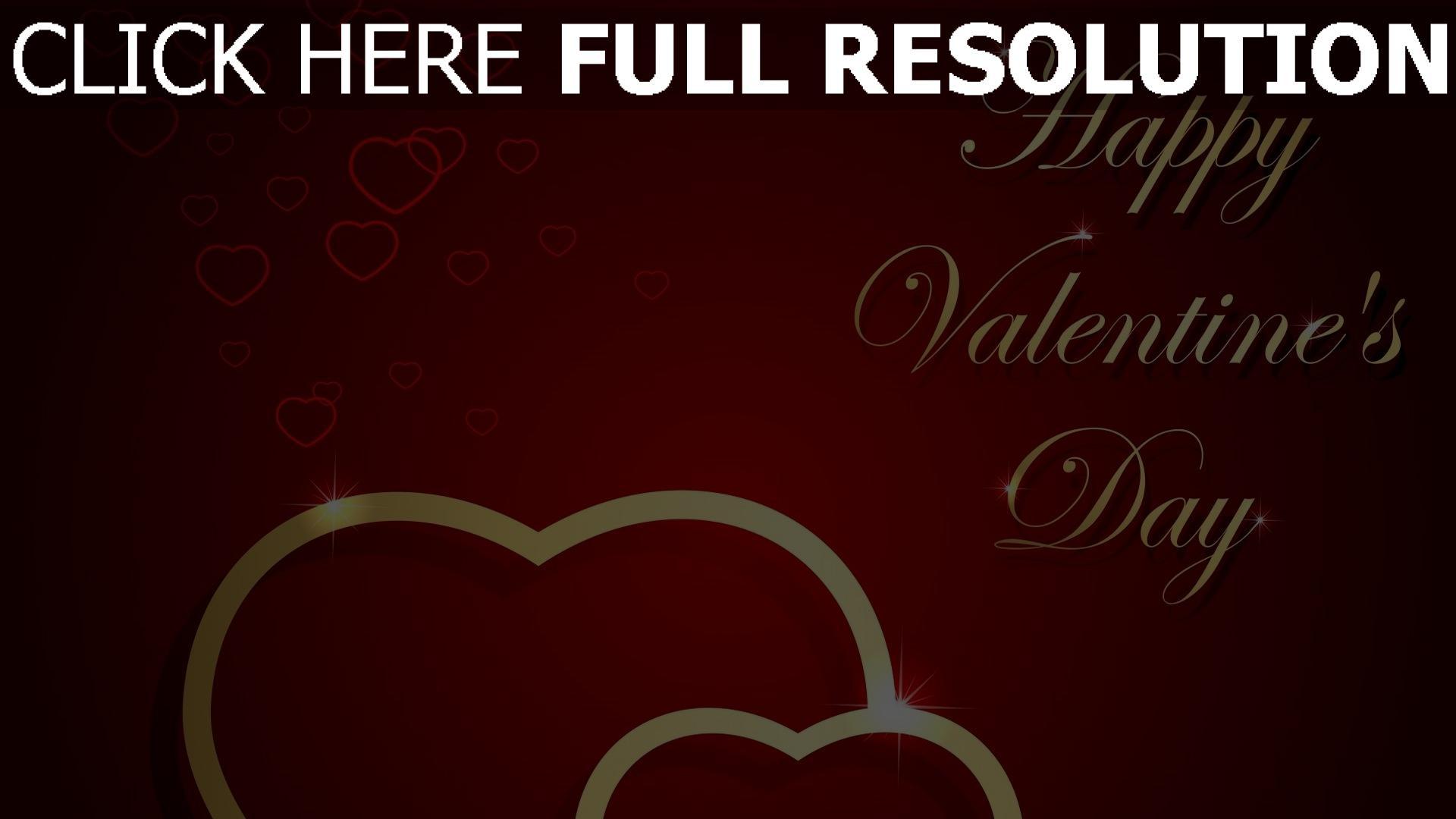 Hd Hintergrundbilder Valentinstag Grüße Wünsche Herzen Rot Gold 1920x1080