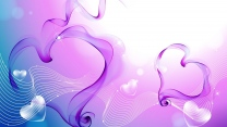 herzen muster band rosa lila