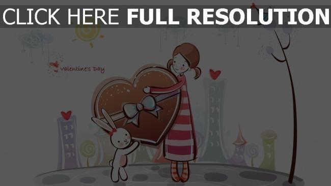 hd hintergrundbilder mädchen geschenk bunny süßigkeiten romantik