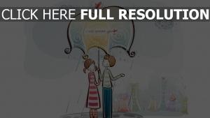 paar romantisch valentinstag regenschirm regen