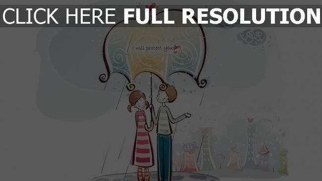 hd hintergrundbilder paar romantisch valentinstag regenschirm regen
