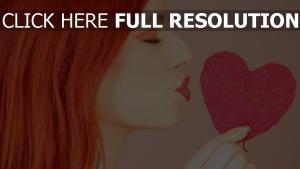 herz romantik mädchen küssen rosa