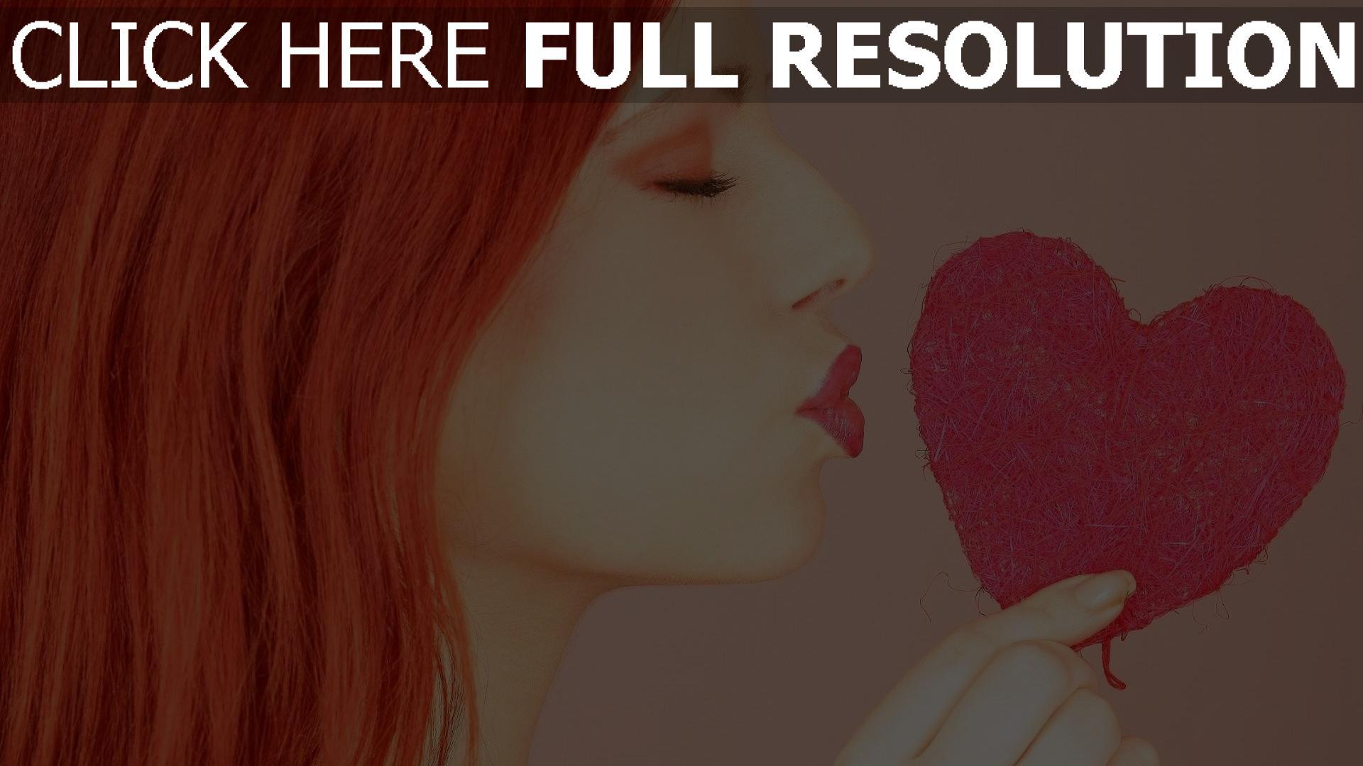 hd hintergrundbilder herz romantik mädchen küssen rosa 1920x1080