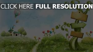 rasen gras herz bäume romantik