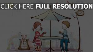paar romantisch valentinstag kaffee café