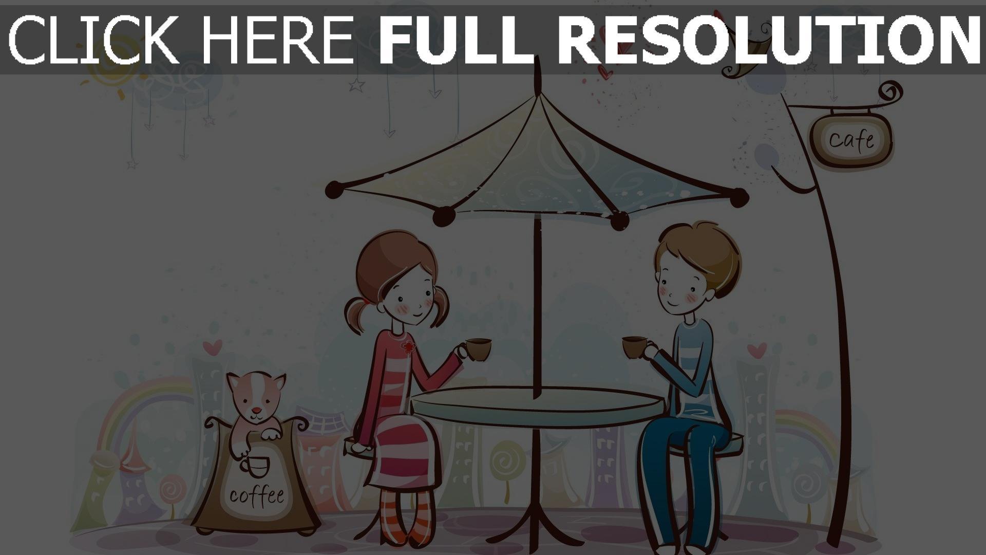 hd hintergrundbilder paar romantisch valentinstag kaffee café 1920x1080