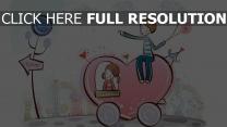 paar romantisch valentinstag herz