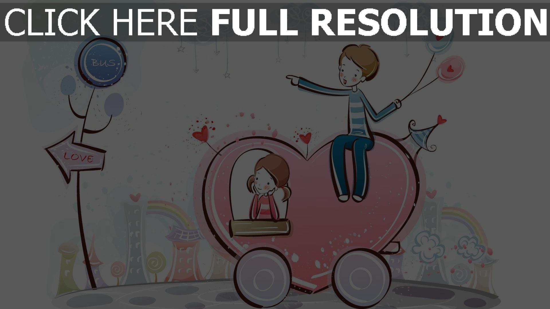 hd hintergrundbilder paar romantisch valentinstag herz 1920x1080