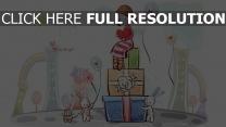 mädchen geschenke kaninchen luftballons romantisch