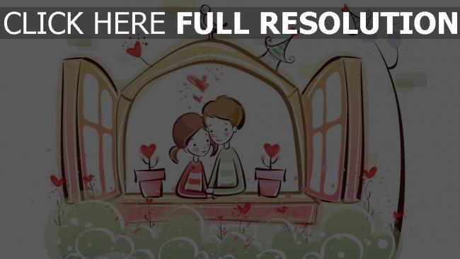 hd hintergrundbilder paar romantisch valentinstag fenster blumen