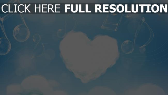 hd hintergrundbilder herz himmel musik wolken romantik
