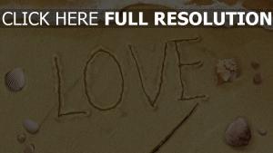buchstaben beschriften sand meer muscheln romantisch