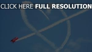 herz symbol romantik flugzeug himmel