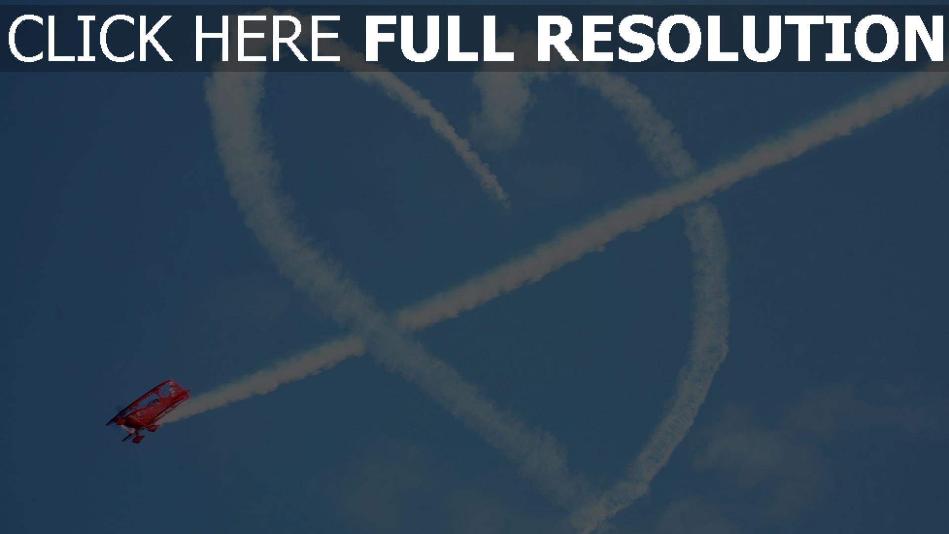 hd hintergrundbilder herz symbol romantik flugzeug himmel 1920x1080