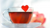 tee tasse herzen romantik
